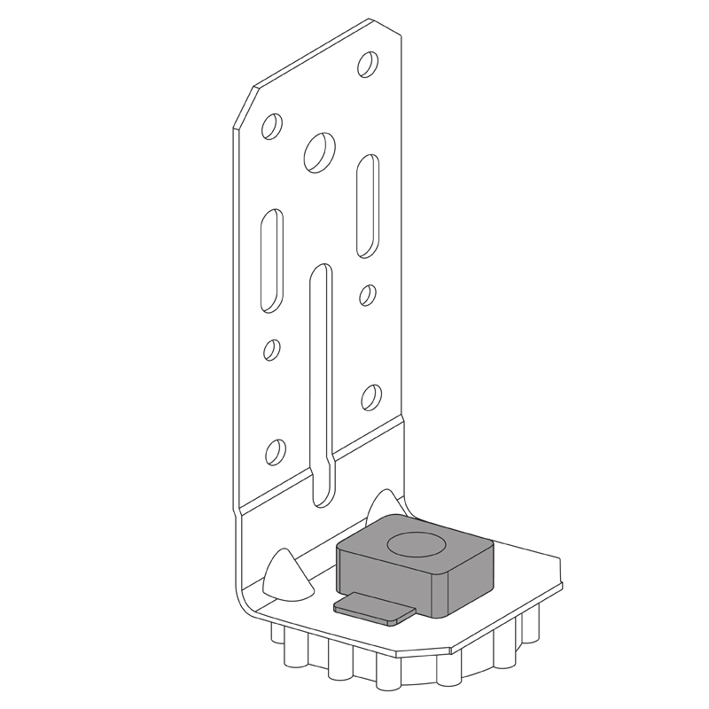 Resilient Mount Right Angle Bracket