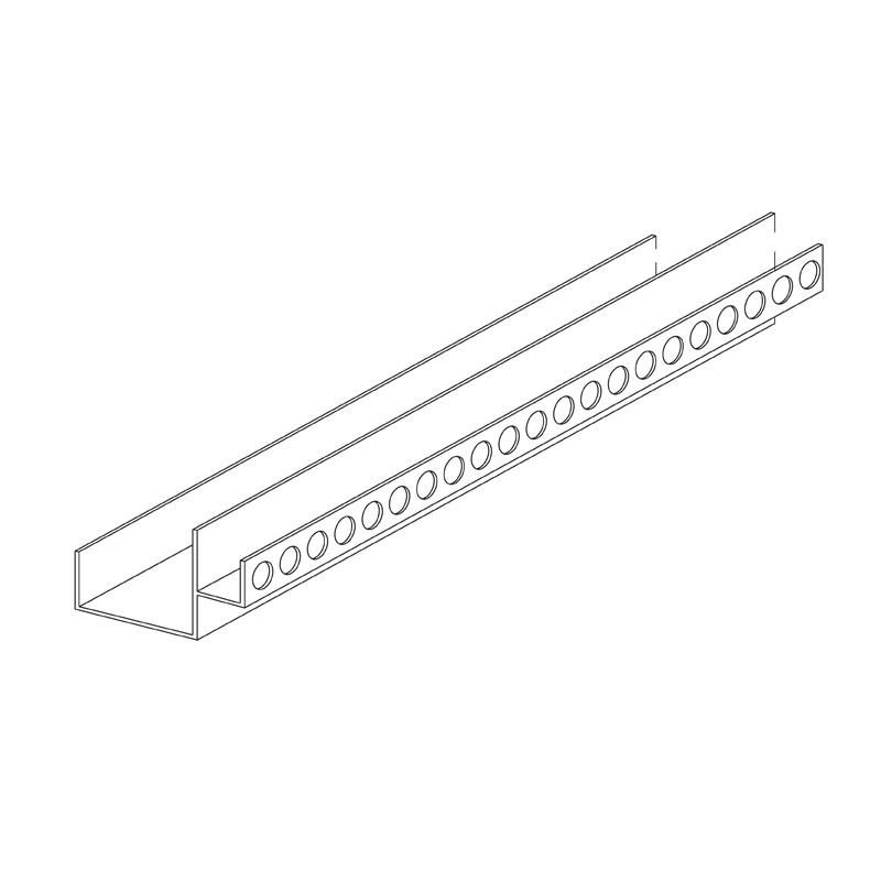 Aluminium (Shadowline) Perimeter Channel 10mm
