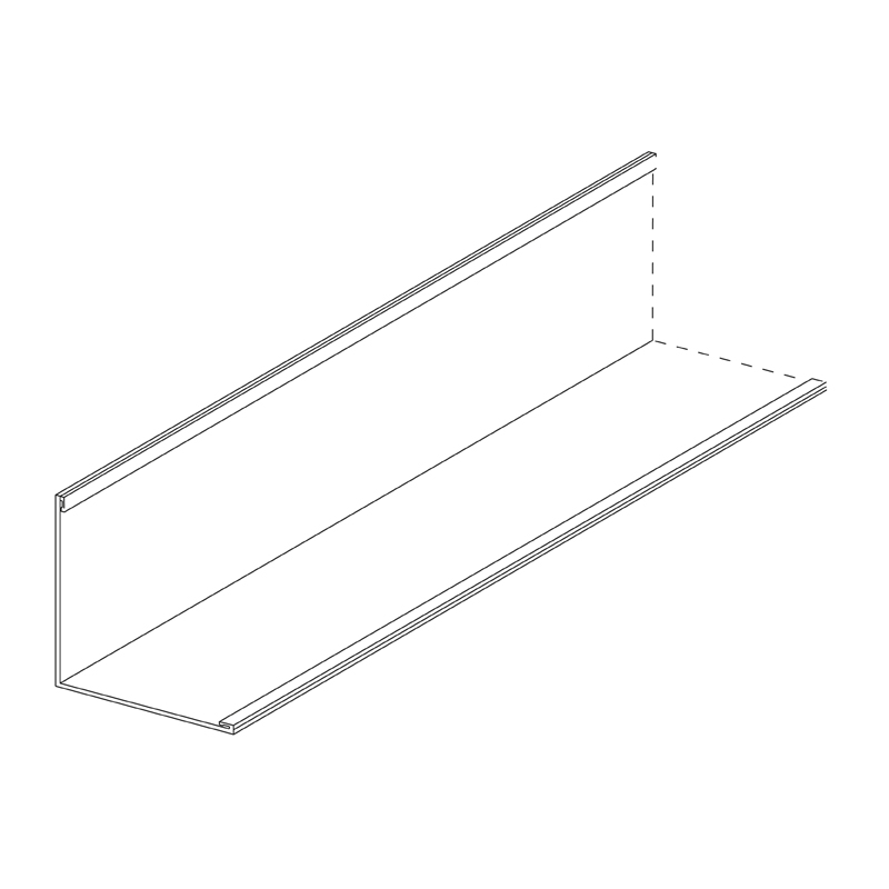 Aluminium Wall Angle 19 x 19mm Reversible