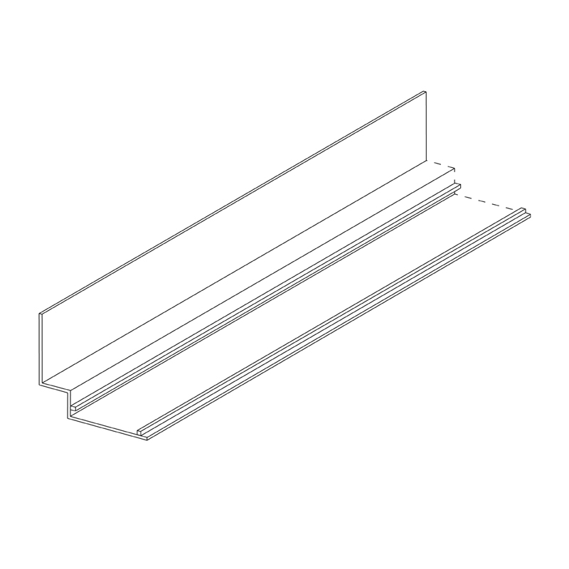 Aluminium Wall Angle (Shadowline) 19 x 9 x 19mm