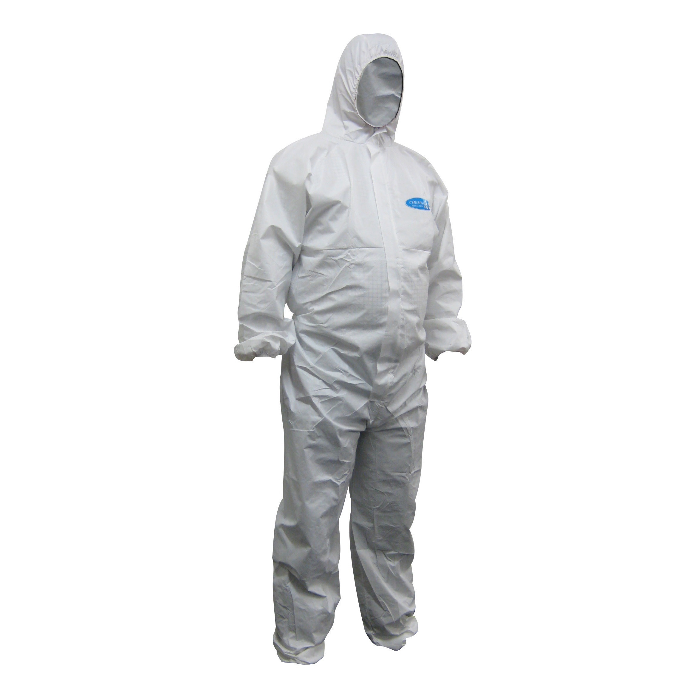 WorkShield - White Laminated Disposable Coveralls - Type 56
