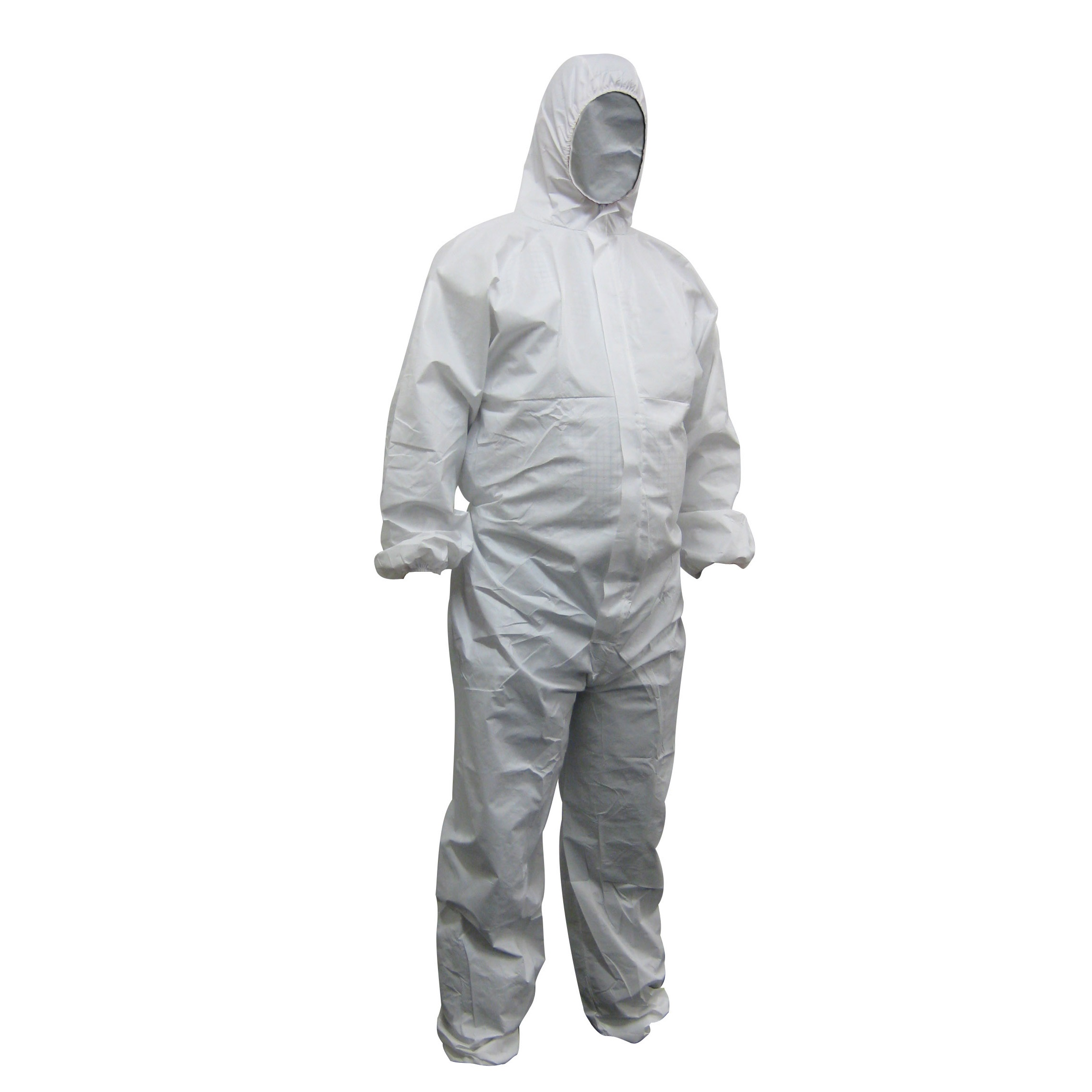 WorkShield - White Polypropylene Disposable Coveralls