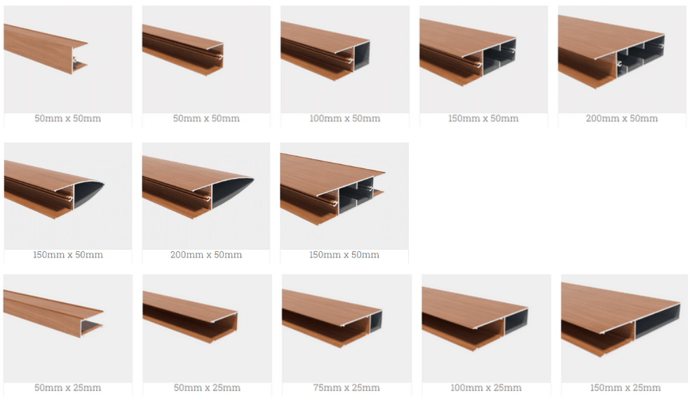 Wood-Look Aluminium Powder-Coat Battens Profiles