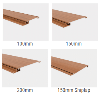 Wood-Look Aluminium Powder-Coat Cladding Profiles